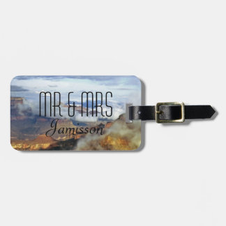 Grand Canyon bewölkt personalisierten Herrn und Gepäckanhänger