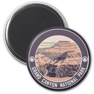 Grand- CanyonVintager Plakat-Entwurf Runder Magnet 5,1 Cm