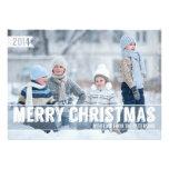 Grand carte photo moderne audacieux de Joyeux Noël Invitations Personnalisées