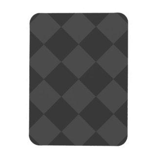 Grand Checkered de Diag - gris et gris-foncé Magnet Rectangulaire Avec Photo