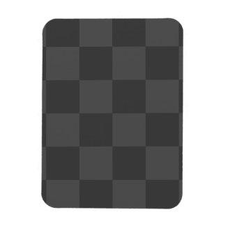 Grand Checkered - gris et gris-foncé Magnet Rectangulaire Avec Photo