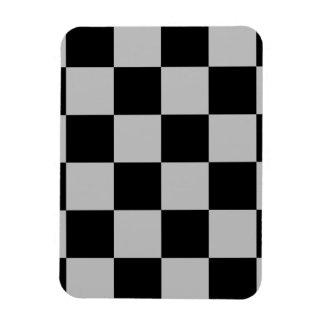 Grand Checkered - noir et gris-clair Magnet Souple