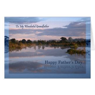 Grand-père, lac à la carte de fête des pères