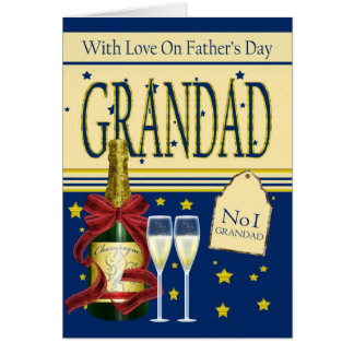 Grandad der Vatertags-Karte - Champagne