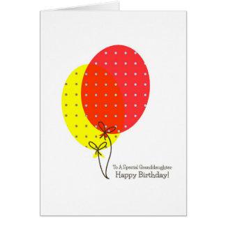 Grandaughter Geburtstagskarten, große bunte Grußkarte