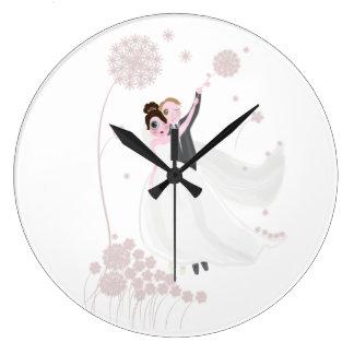 Grande Horloge Ronde Amour de mariage