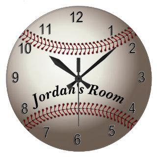Grande Horloge Ronde Base-ball de l'horloge des enfants
