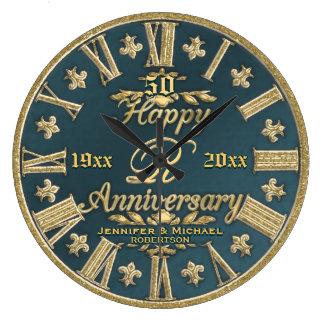 Grande Horloge Ronde cinquantième Anniversaire de mariage