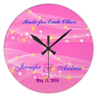 Grande Horloge Ronde Fait l'un pour l'autre l'horloge de mariage pour