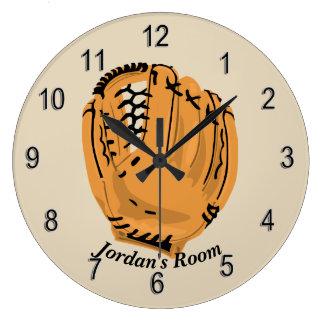 Grande Horloge Ronde Gant de base-ball de l'horloge des enfants