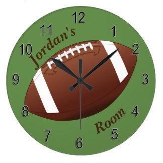 Grande Horloge Ronde Le football de l'horloge des enfants