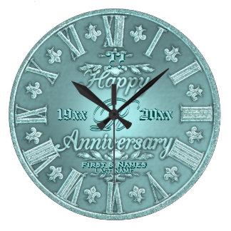 Grande Horloge Ronde Tout anniversaire de mariage d'année