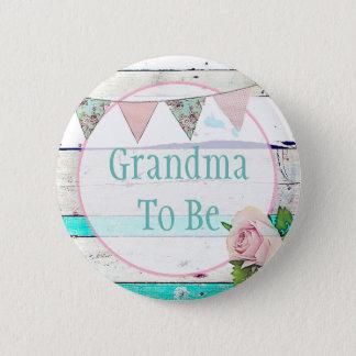 Grandm, zum schäbiges Vintages rustikales Runder Button 5,7 Cm