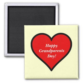 Grandparents_Day (personifizieren Sie) Quadratischer Magnet