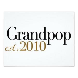 Grandpop Est 2010 10,8 X 14 Cm Einladungskarte