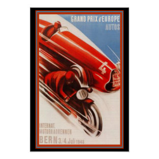 Grandprix d Europa-Kunst-Deko-Druck Poster