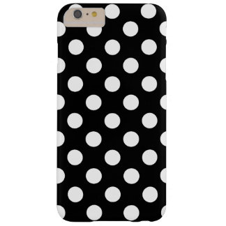 Grands Polka Dots tendance conception noir de Coque iPhone 6 Plus Barely There