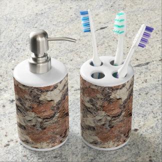 Granit-Felsen-Beschaffenheit --- Rosa Badezimmer-Set