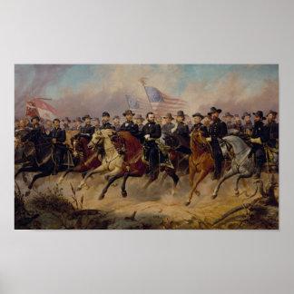 Grant und sein General-Malen Poster