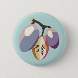 Grape fruit illustration runder button 5,7 cm