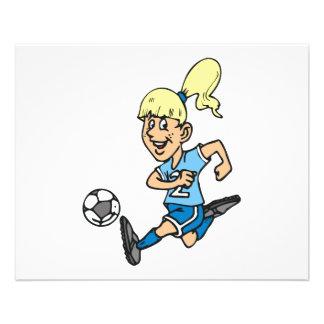 graphique de footballeur de fille prospectus 11,4 cm x 14,2 cm