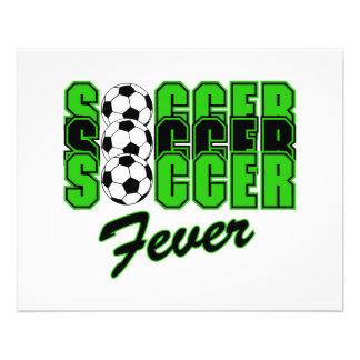 graphique des textes de fièvre du football prospectus en couleur