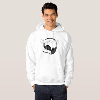 Graphique #Music d'art numérique d'écouteurs Veste À Capuche