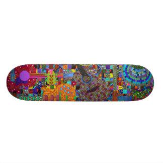 graphiques colorés de guitare skateboard 20,6 cm