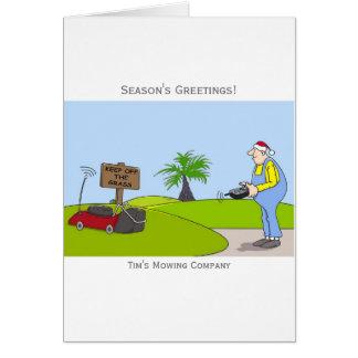 Gras-Ausschnitt-Service-kundengerechte Grußkarte