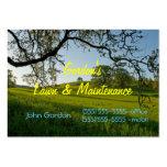 Gras-Baum-Rasen Service oder Friedhof Visitenkarten Vorlagen
