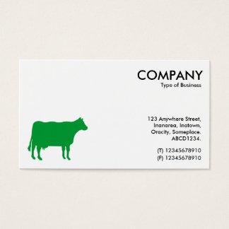 Gras-Grün-Kuh-Symbol - Weiß Visitenkarten