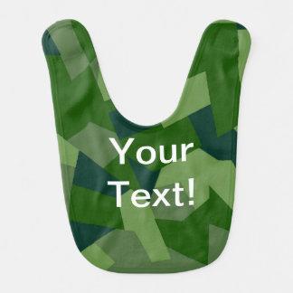Grasartige Camouflage Lätzchen