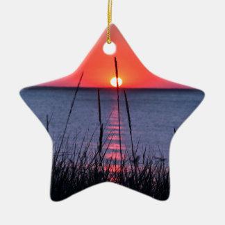 Gräser im Abendlicht - Insel Rügen Keramik Ornament