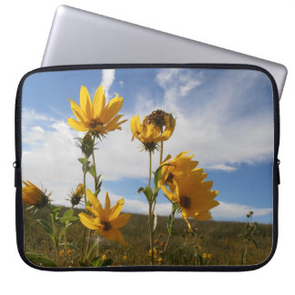 Grasland-Sonnenuntergang Laptopschutzhülle