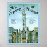 Grattoirs de ciel de 1898) crus de ~ de Philadelph Affiche