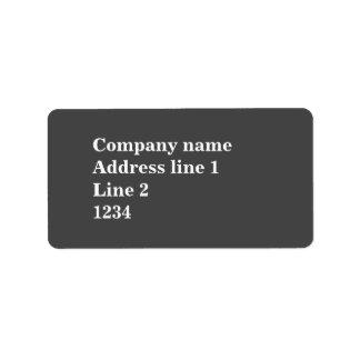 Grau Adressetiketten