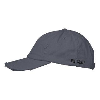 Grau beunruhigter Blockprüfungs-Hut Bestickte Baseballkappe