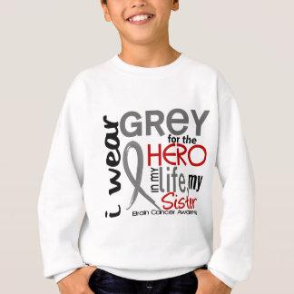 Grau für meinen Schwester-Hirntumor des Held-2 Sweatshirt