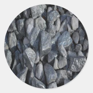 Grau-Graue Steine durch Khoncepts Runder Aufkleber