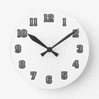 Grau in der schwarzen Uhr-Schablone Runde Wanduhr