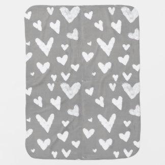 Grau mit weißen Herzen, ursprüngliche Puckdecke