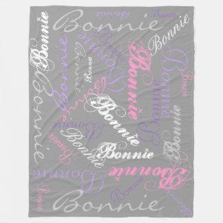 Grau, rosa, Orchidee, Lavendel, umfassende Fleecedecke
