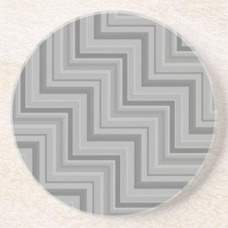 Grau stripes Treppenmuster Getränkeuntersetzer