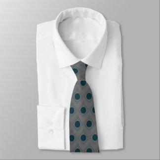 Grau u. aquamarines eingepackt - in der Krawatte