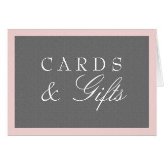 Grau u. erröten die rosa Wedding Karten u.