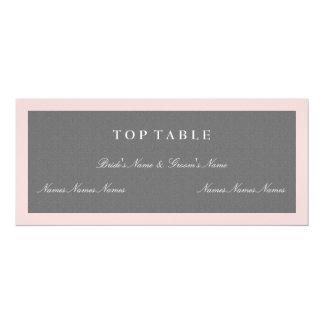 Grau u. erröten rosa Spitzentabellen-Plan-Karte 10,2 X 23,5 Cm Einladungskarte