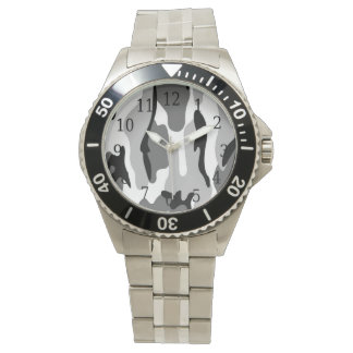 Grau-u. Schwarz-Tarnungs-Uhr Handuhr