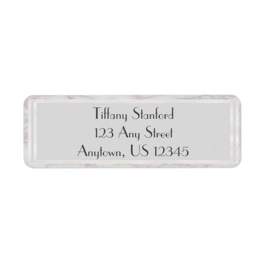 Grau-und Rosen-Gold marmorte personalisiertes | Rücksendeetikett