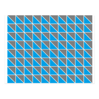 Grau-und Türkis-Dreiecke Postkarte