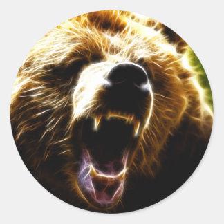 Graubär-Angriff Runder Aufkleber